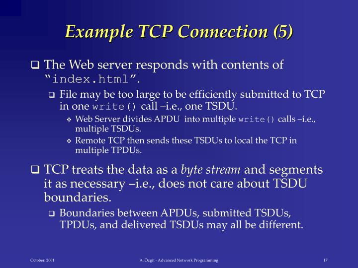 Example TCP Connection (5)