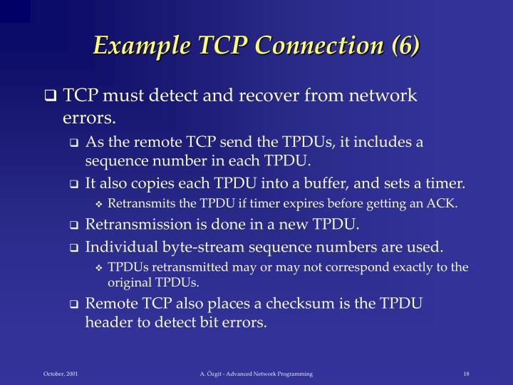 Example TCP Connection (6)