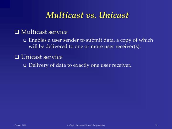 Multicast vs. Unicast