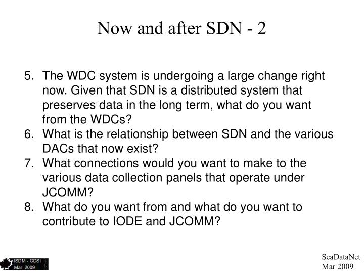Now and after SDN - 2