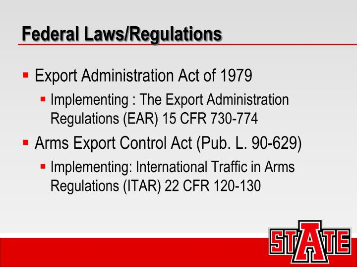 Federal Laws/Regulations