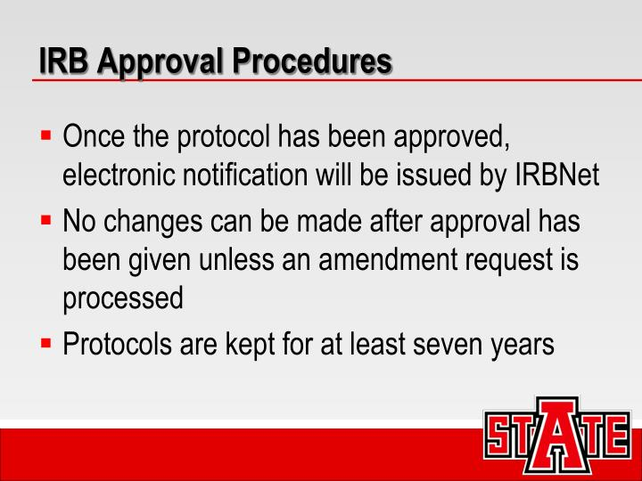 IRB Approval Procedures
