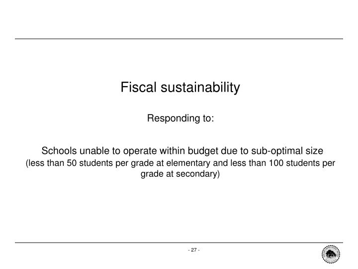 Fiscal sustainability