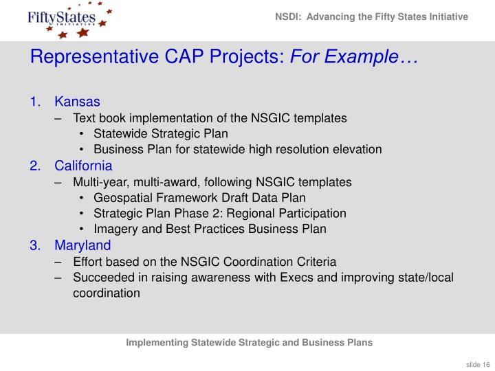 Representative CAP Projects: