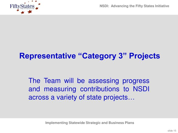 "Representative ""Category 3"" Projects"