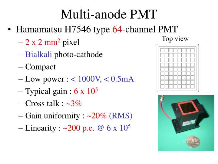 Multi-anode PMT