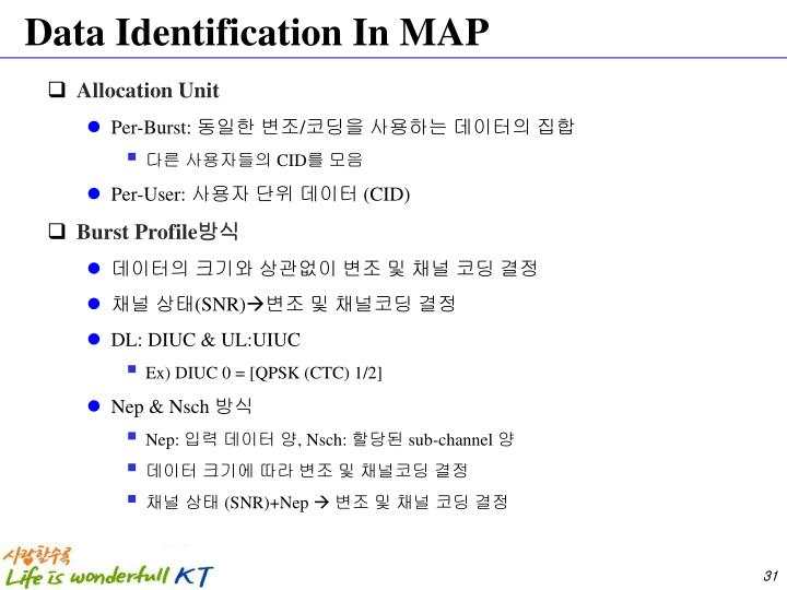 Data Identification In MAP