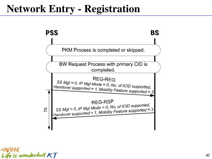 Network Entry - Registration
