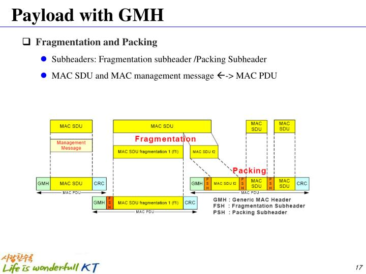 Payload with GMH