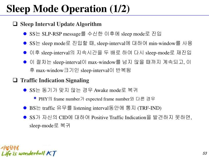 Sleep Mode Operation (1/2)
