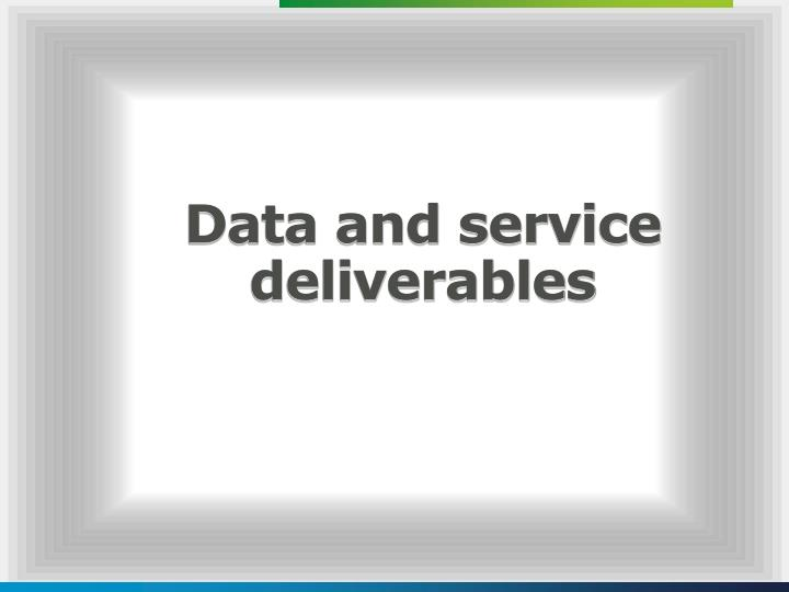 Data and service