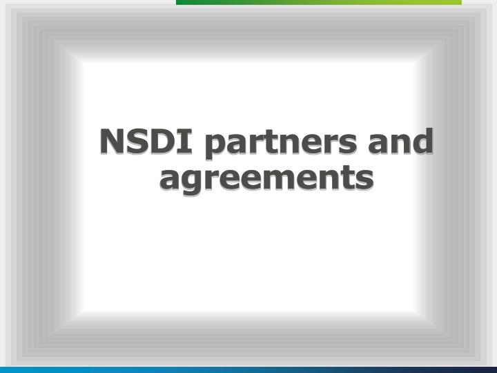 NSDI partners and