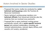 actors involved in sector studies