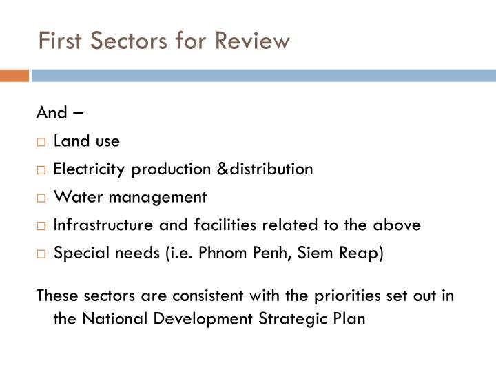 First Sectors for Review