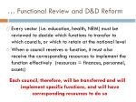 functional review and d d reform1