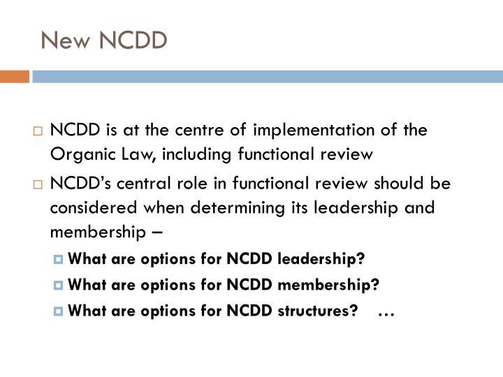 New NCDD