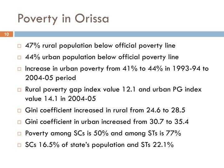 Poverty in Orissa