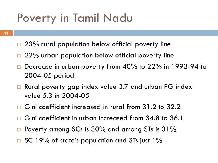 Poverty in Tamil Nadu
