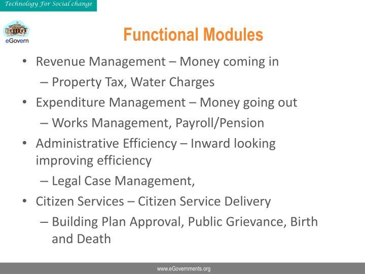 Functional Modules