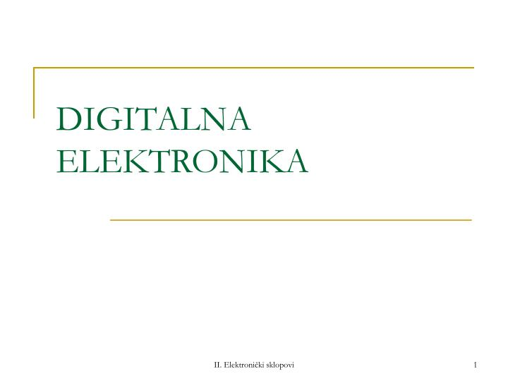 Digitalna elektronika