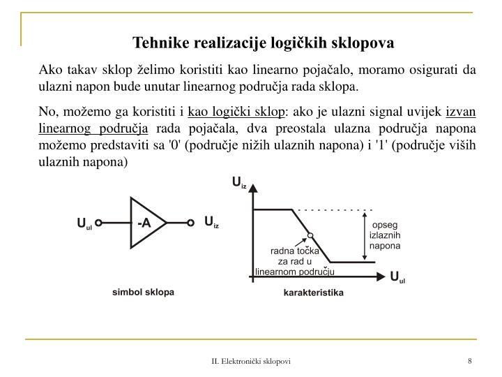 Tehnike realizacije logičkih sklopova