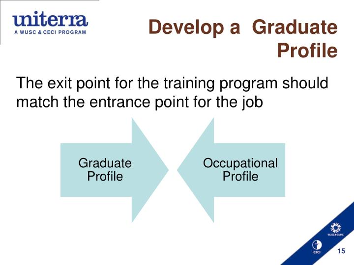 Develop a  Graduate Profile
