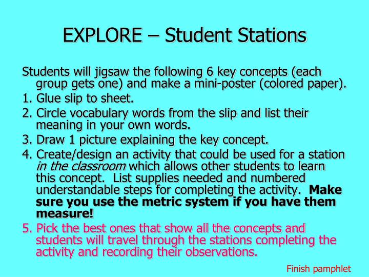 EXPLORE – Student Stations