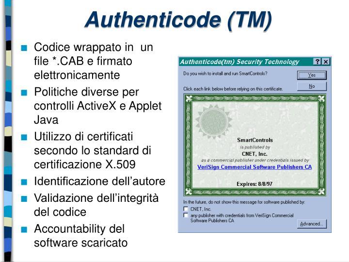 Authenticode (TM)