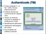 authenticode tm