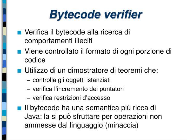 Bytecode verifier