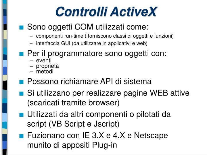 Controlli ActiveX