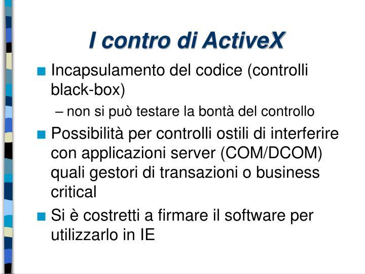 I contro di ActiveX