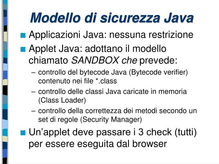 Modello di sicurezza Java