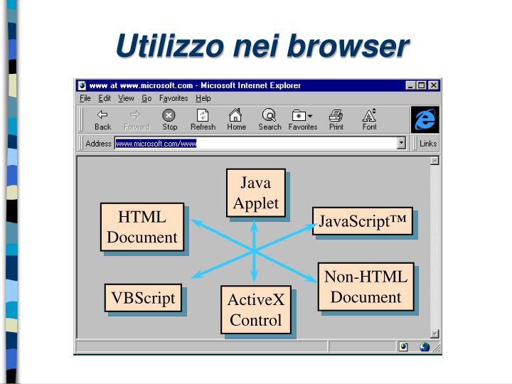Utilizzo nei browser