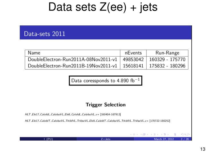 Data sets Z(