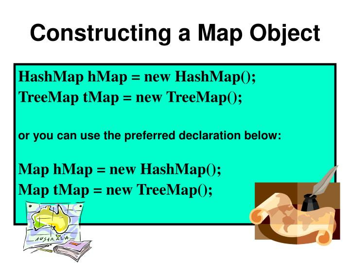 Constructing a Map Object