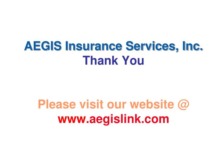 AEGIS Insurance Services, Inc.