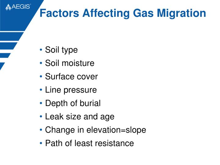 Factors Affecting Gas Migration