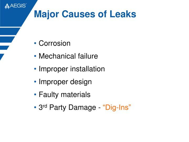 Major Causes of Leaks
