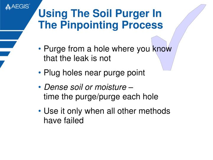 Using The Soil Purger In