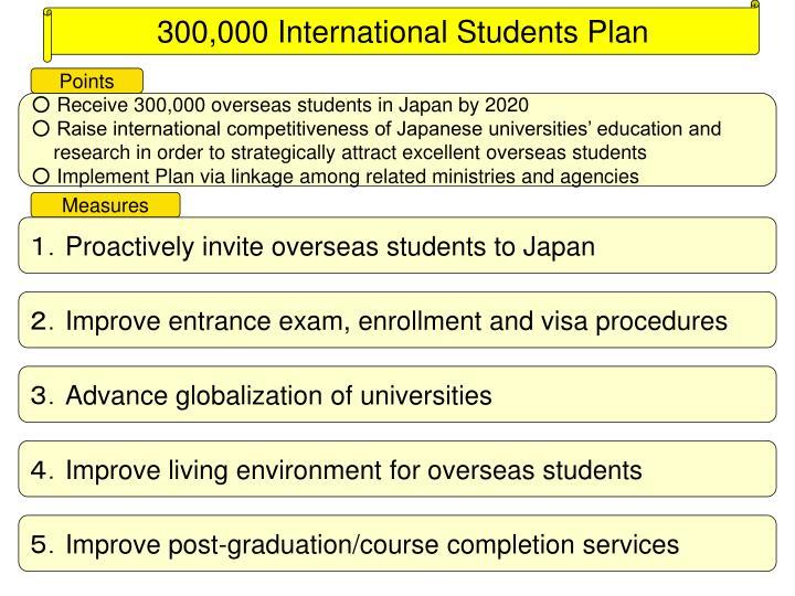 300,000 International Students Plan