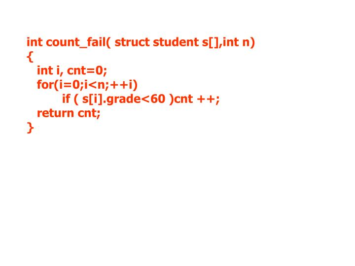 int count_fail( struct student s[],int n)