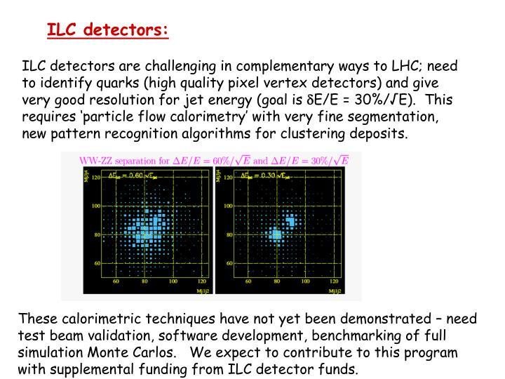 ILC detectors: