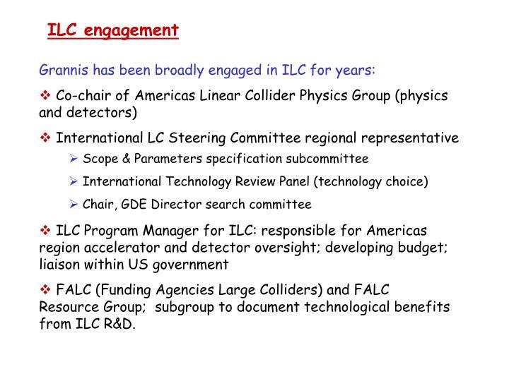ILC engagement