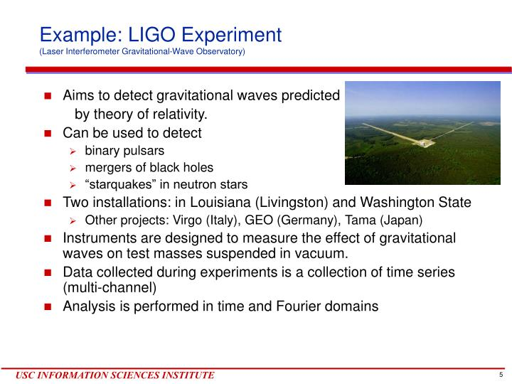 Example: LIGO Experiment
