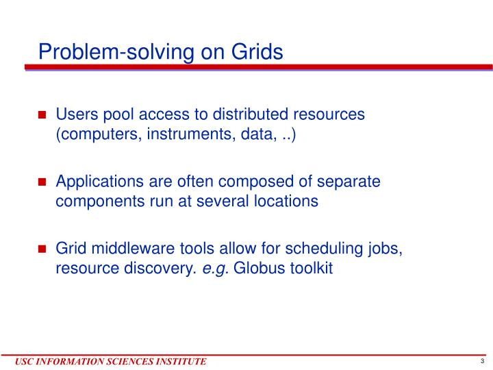Problem solving on grids