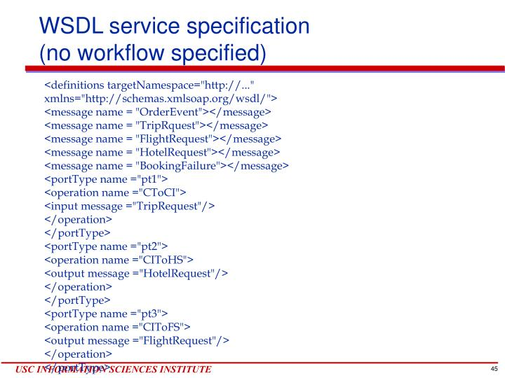 WSDL service specification