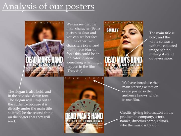 Analysis of our posters
