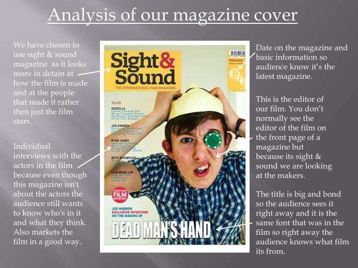 Analysis of our magazine cover