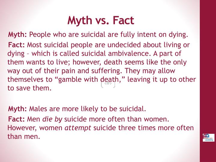 Myth vs. Fact